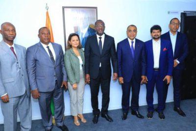 l'Etat de Côte d'Ivoire signe un accord de convention avec 4 entreprises industrielles